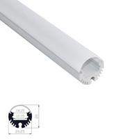 profilo in alluminio a led per striscia 12mm diametro 15mm profilo tubo alloggiamento rondella parete lineare leggera Tipo semicircolare