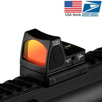 RMR Red Dot Sight colimador ajustable Mini Red Dot Sight colimador de la vista refleja Alcance ajuste de 20 mm carril del tejedor para Airsoft Rifle de caza