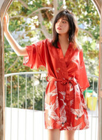 Femme Sexy Glace Soie Vêtements De Nuit En Soie Simulée Pyjamas Mariée Robe De Demoiselle D'honneur Robe Peignoir Femme Chemise De Nuit À La Maison Porter