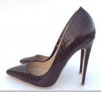 19 Wine- red lizard pattern New type Cusp Fine heel Women...