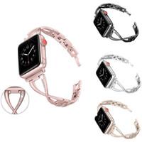 الفاخرة مشاهدة الأشرطة ل iwatch 38 ملليمتر 42 ملليمتر 40 ملليمتر 44 ملليمتر النساء العصابات أبل watchband الماس الفولاذ المقاوم للصدأ حزام صالح iwatch سلسلة 6 SE 5 4 3 2 1 سوار