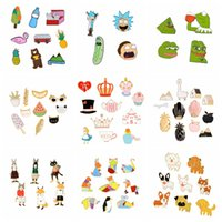 QIHE JEWELRY 4~12 piece in one set Cartoon Pins Animal Fruit...