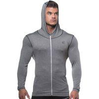 Automne Hommes Zipper homme mince Sweat Hoodies Bodybuilding Workout Veste à capuche Homme Salles de sport Fitness Jogger Hauts Vêtements