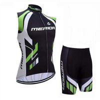 Jersey ciclistica 2019 Merida Team Racing Bike Abbigliamento Traspirante senza maniche Jersey Gilet Shorts Set Bicycle Set Sportswear 60410