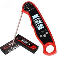 Waterproof LCD instantâneo Digital Leia termômetro de carne Cozinha alimentos Cozinhar termômetro Backlight Elétrica termômetro de carne Probe churrasco Grelhar