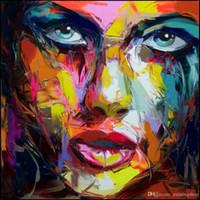 Francoise Nielly Palette Couteau Impression Maison Œuvres Moderne Portrait Peinture À L'huile À La Main Sur Toile Concave Et Convexe Texture Face175
