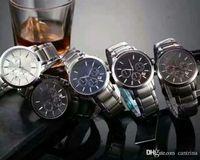 뜨거운 판매 탑 공장 새로운 AR2434 AR2448 AR2454 AR2454 AR2458 크로노 그래프 시계 Classico Mens 손목 시계 스테인레스 스틸 남자 시계 상자