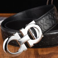 Fashion Men Belt 2019 Real Leather Belt Smooth Buckle Women ...