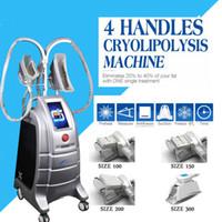 2019 Yeni model !!! Sıcak cryolipolysis yağ donma makinesi 4 el kısımları makine satışı ETG 50-4S için