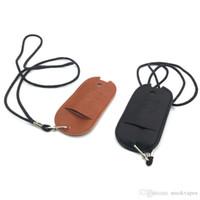Neue bunten PU-Leder-Lanyard Schutzhülle Tasche Shell Cover-Hülsen-bewegliche Halskette Seil-Qualität für Vape ZERO Pod Kit Hot-Kuchen