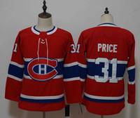 Trasporto delle donne / della gioventù Montreal Canadiens Jersey 31 Carey Price Hockey pullover poco costoso libero di alta qualità