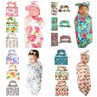 Newborn Baby Blankets Ins Infant Print Swaddling Rabbit Ear ...