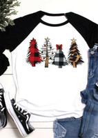 Goocheer nuova delle donne casuali di arrivo dell'albero di Natale Tops signore manica lunga stampa casuale allentata Pullover maglietta Size