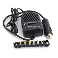 유니버셜 DC 80W 자동차 자동 충전기 전원 어댑터 세트 노트북 분리형 플러그 8 개 무료 배송 도매 10PS