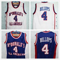 4c4303277e56 New Arrival. McDonald s All American Chauncey Billups  4 White Blue Retro Basketball  Jersey McDonald Mens Stitched Custom Any Number Name Jerseys