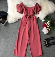 السروال القصير المرأة حللا الكاحل طول السراويل النسائية الصيف موضة الكشكشة أسود أزرق أصفر أحمر الملابس Y19060501