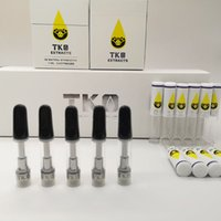 TKO Extracts Vape Cartridges 510 Keramikpatronen 0,8 ml Leere dicke Ölpatrone Vape Pens 20 Geschmack mit Displaybox Black Ceramic Tips