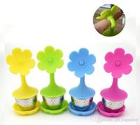 Creativo tè in silicone infusore fiori forma tazza da tè in silicone con grado alimentare filtro bustina di tè filtri in acciaio inox foglia di tè diffusore
