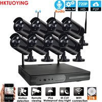 IP Camera 8CH 1080P HD Audio Wireless NVR Kit P2P 720P Interni Esterni IR sicurezza di visione notturna 1.0MP Audio System CCTV WIFI