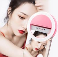Carregar flash LED beleza preenchimento lâmpada selfie exterior anel selfie recarregável luz para todos telemóvel
