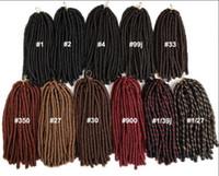 6 Packs de 27 Mixte Tête complète Dreadlocks synthétique Extensions cheveux Crochet Tresses souple Faux Locks synthétique de Tressage Hair Express Shiping