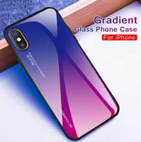 Renkli temperli cam cep telefonu kabuk Cep Telefonu Kılıfları iPhone 11promax 7 Artı Galaxy için Kılıf Cep Telefonu Kılıfları rampa degrade 20+