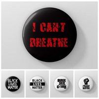Ich kann nicht schwarze Leben atmen Materie-Abzeichen-Prozession Amerikanische Parade-Abzeichen Ich kann keine Slogan-Abzeichen atmen Slogan-Abzeichen George Floyd HHA1338