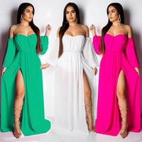 Black sexy strapless chest slit Dress Ball Gown Sundress Wedding Sleeveless V-Neck Dress