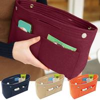 Кошелек Организатор Вставить Войлок сумка женщин Косметическая сумка для хранения Multipockets чехол