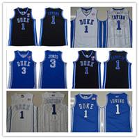2020 Duke Blue Devils Jersey 1 Vernon Carey Jr. 3 Tre Jones Kyrie 1 Irving Jerseys 2 Cam Reddish 5 RJ Barrett Camisas