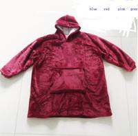 Al aire libre abrigos sudadera con capucha encapuchado de inclinación Albornoz suéter de lana jersey manta para hombres y mujeres