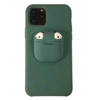 caso para el iphone Caso 11 auriculares Airpods cubierta de silicona del teléfono con el paquete para Iphone 11 Pro Max Plus XS MAX XR 8 7 6 Plus
