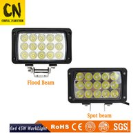 6inch 45W IP67 LED Work Light Bar White Spot Flood Beam Lamp...