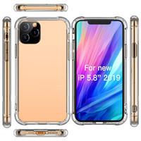 iPhone 13 12 11 미니 프로 최대 XS XR 8 7 플러스 삼성 S20 TPU 보호 방지 클리어 케이스 커버