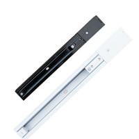 Aluminiumschienen Schwarz 3Wire 50cm Länge Hart Spur Schiene Rigid Artikel Orbit-Streifen-Verbindungs Eingeschlossen LED-Schienen-Licht 100CM Artikel Orbit