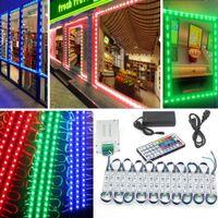 10FT 20FT 30FT 40FT 50ft Módulos LED Luces 5630 5050 RGB Ventana más brillante de la tienda de la tienda LED + Control remoto + Fuente de alimentación