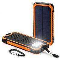 20000mAh Roman Solar Power Bank Ultradünne wasserdichte Solarstrombanken 2A Ausgabe Handy Tragbare Ladegerät Solar Powerbank