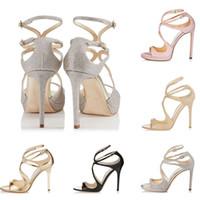 Hot Sale-Designer Sandales Alors Kate Styles 10CM 12CM noir argent blanc LANCE rose en cuir taille point 35-42