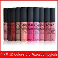 2020 Hot Nyx Soft Mat Cream Lipgloss Lipgloss Maquillage Vintage Cosmétiques Longue Durée Nyx Lèvre Gloss 10G 12 Couleurs
