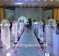 Kristal Çiçek Akrilik Çiçek Avize Düğün Dekorasyon Çiçek Vazo Standları Olay Masa Centerpiece Parti Dekor Yol Kurşun deco4461