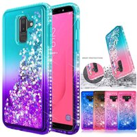 Für samsung s10 plus lite case luxus glitter quicksand flüssigkeit sparkle shiny bling diamant phone cases für iphone x xr xs max note9