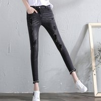 Ripped jeans women female holes jeans pencil pants 2019 new ...
