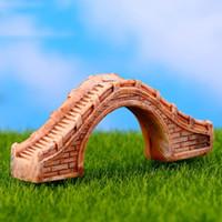 Paesaggio della decorazione Micro XBJ205 resina Ponte Figurine Mini Mestieri della resina Fairy Garden Mignon di fai da te terrario Piante grasse Miniatures