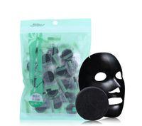 Bambu Kömür Sıkıştırılmış Yüz Maskesi DIY Siyah Yüz Maskesi dokunmamış Kumaşlar Güçlü Adsorpsiyon Yağı Kontrol 40 adet