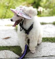 Marka Pet Şapka Kulak Delikleri Ile Prenses Kediler Yavru Plaj Kap Küçük Köpek Visor Şapka Pet Güzel Köpek Giyim Aksesuarları 6 Tasarımlar LQPYW964