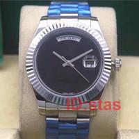 Relojes para hombre de lujo Automático 36M DÍA FECHA Reloj Glide Smooth Black Face Mechanics Relojes para hombres Original 18K Oro Acero inoxidable Broche