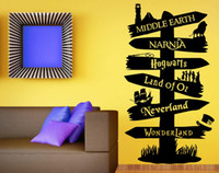 Sticker murale del vinile Storybook orientamento Fandom Harry Potter Lord Of The Ring Narnia Peter Pan Typography
