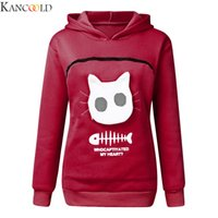 KANCOOLD Winter-Frauen mit Kapuze Sweatshirts Sweatshirt Marsupium Hood Tops tragen Cat Breath Sweater Komfortabel
