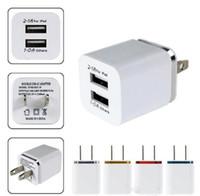 المعدن المزدوج USB الجدار الشحن محول شاحن الولايات المتحدة الاتحاد الأوروبي التوصيل 2.1A AC قوة شاحن الجدار 2 منفذ لهاتفك الذكي سامسونج LG اللوحي