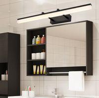 Camera da letto moderna del bagno LED Luce di vanità Lampada da parete camera da letto interna Argento nero Oro specchio murale Illuminazione applique da parete applique apparecchi LLFA